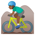 Man Mountain Biking: Medium-Dark Skin Tone on Google Android 10.0