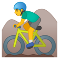 Man Mountain Biking on Google Android 10.0