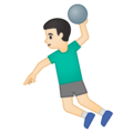 Man Playing Handball: Light Skin Tone on Google Android 10.0