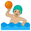 Man Playing Water Polo: Medium-Light Skin Tone on Google Android 10.0