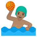 Man Playing Water Polo: Medium Skin Tone on Google Android 10.0