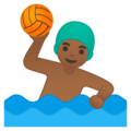 Man Playing Water Polo: Medium-Dark Skin Tone on Google Android 10.0