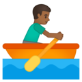 Man Rowing Boat: Medium-Dark Skin Tone on Google Android 10.0