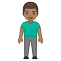 Man Standing: Medium Skin Tone on Google Android 10.0