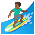 Man Surfing: Medium-Dark Skin Tone on Google Android 10.0