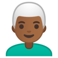 Man: Medium-Dark Skin Tone, White Hair on Google Android 10.0