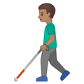 Man with Probing Cane: Medium Skin Tone on Google Android 10.0