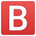 B Button (Blood Type) on Google Android 10.0