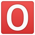 O Button (Blood Type) on Google Android 10.0
