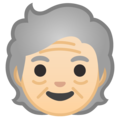 Older Person: Light Skin Tone on Google Android 10.0