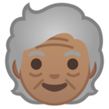 Older Person: Medium Skin Tone on Google Android 10.0