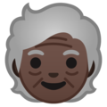 Older Person: Dark Skin Tone on Google Android 10.0
