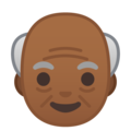 Old Man: Medium-Dark Skin Tone on Google Android 10.0