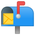 Open Mailbox With Raised Flag on Google Android 10.0