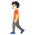 Person Walking: Light Skin Tone on Google Android 10.0