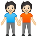 People Holding Hands: Light Skin Tone on Google Android 10.0