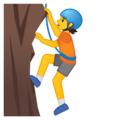 Person Climbing on Google Android 10.0