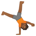 Person Cartwheeling: Medium-Dark Skin Tone on Google Android 10.0