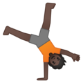 Person Cartwheeling: Dark Skin Tone on Google Android 10.0