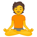 Person in Lotus Position on Google Android 10.0