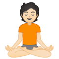 Person in Lotus Position: Light Skin Tone on Google Android 10.0