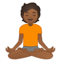 Person in Lotus Position: Medium-Dark Skin Tone on Google Android 10.0