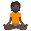 Person in Lotus Position: Dark Skin Tone on Google Android 10.0