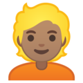 Person: Medium Skin Tone, Blond Hair on Google Android 10.0