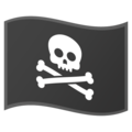 Pirate Flag on Google Android 10.0