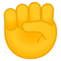 Raised Fist on Google Android 10.0