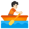 Person Rowing Boat: Light Skin Tone on Google Android 10.0