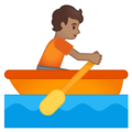 Person Rowing Boat: Medium Skin Tone on Google Android 10.0
