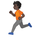 Person Running: Dark Skin Tone on Google Android 10.0