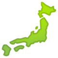 Map of Japan on Google Android 10.0