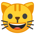 Grinning Cat on Google Android 10.0