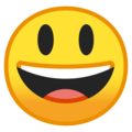 Grinning Face With Big Eyes on Google Android 10.0