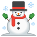 Snowman on Google Android 10.0