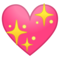 Sparkling Heart on Google Android 10.0