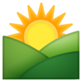 Sunrise Over Mountains on Google Android 10.0
