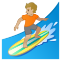 Person Surfing: Medium-Light Skin Tone on Google Android 10.0