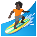 Person Surfing: Dark Skin Tone on Google Android 10.0