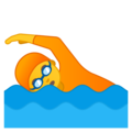 Person Swimming on Google Android 10.0