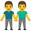 Men Holding Hands on Google Android 10.0