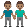 Men Holding Hands: Medium Skin Tone on Google Android 10.0
