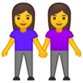 Women Holding Hands on Google Android 10.0
