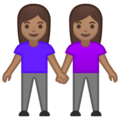 Women Holding Hands: Medium Skin Tone on Google Android 10.0