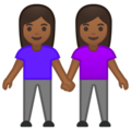 Women Holding Hands: Medium-Dark Skin Tone on Google Android 10.0
