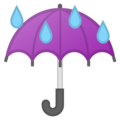Umbrella With Rain Drops on Google Android 10.0