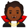 Vampire: Medium-Dark Skin Tone on Google Android 10.0