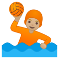 Person Playing Water Polo: Medium-Light Skin Tone on Google Android 10.0